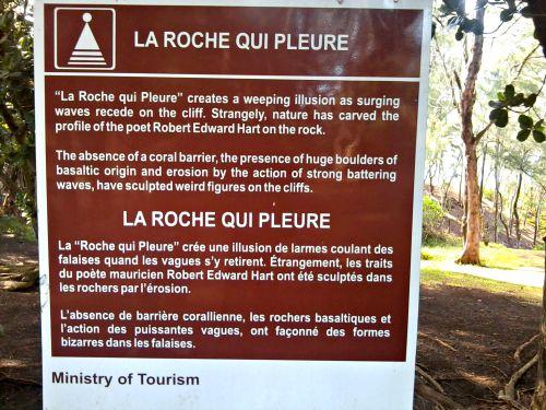 La Roche Qui Pleure, South Mauritius