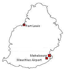 Mauritius Map Mahébourg