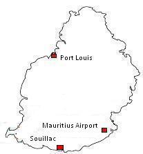 Mauritius Map Souillac