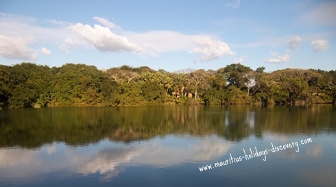 Limpid lake in Mauritius
