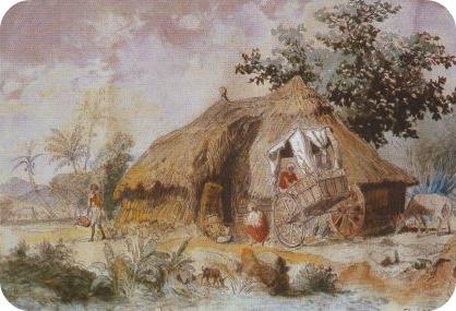 Indian Hut at Pamplemousses, Mauritius