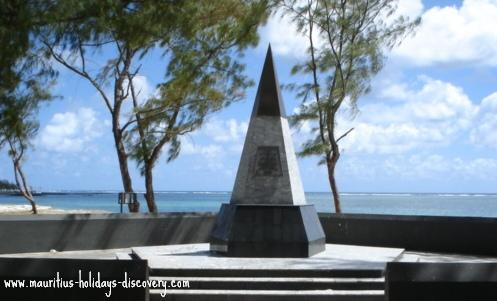 Monument of ZS-SAS at Belle Mare Beach