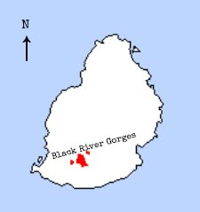 Mauritius Fody distribution map