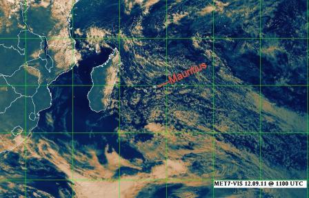 Weather in Mauritius - satellite imag