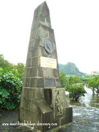 Landing of Dutch Monument at Grand Port, Mauritius
