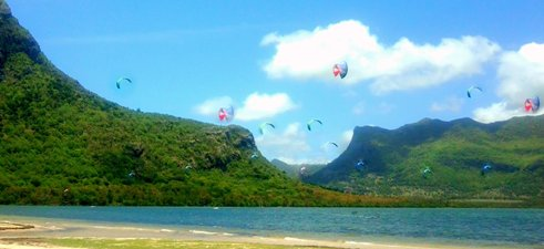 Kite Surf at Le Morne, Mauritiu