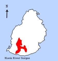 Mauritius Cuckooshrike distribution map