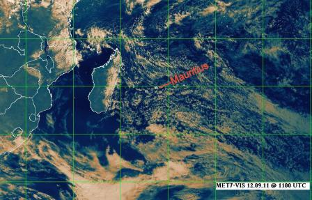 Weather in Mauritius - satellite imag
